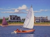 Beetle Cat Cruising, Nantucket (18X24) oil on canvas