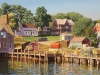Friendship Harbor (24X36) oil on linen