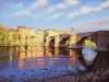 Limoux Bridge, Limoux France (18X24) oil on canvas