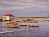 Rowing Brant Point,Nantucket, 24X36, oil on canvas